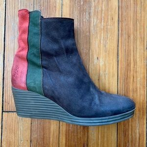 Fly London colorblock soft leather ankle boot. 8